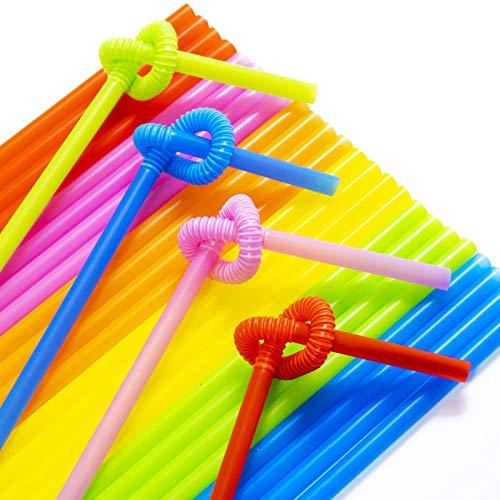 500 pajitas desechables de plástico, largas, flexibles, de 1,2 cm de diámetro y 4,5 cm de largo, aptas para niños.