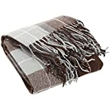Lavish Home Brown Throw Blanket-Cashmere-Like-Plaid