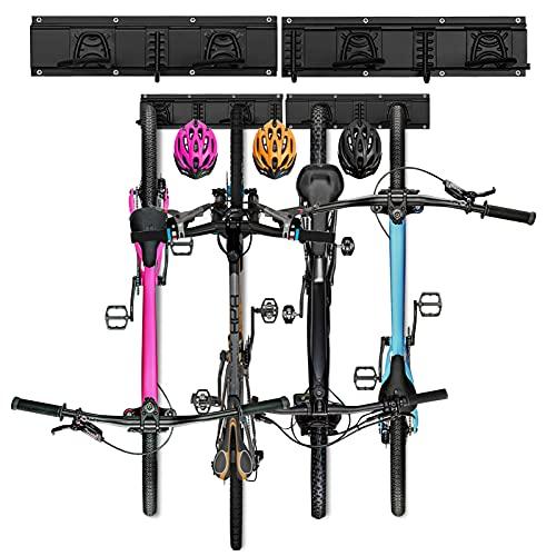Fahrradhalter Wandhalterung für Fahrräder und Helmhaken, Fahrrad Wandhalterung für Garage oder Wohnung, Wand Fahrradaufhängung mit Rahmenschutz