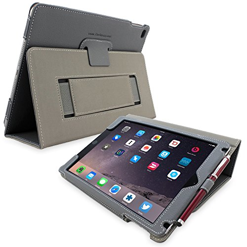 Snugg iPad 3/4Schutzhülle, Leder Schutz Klapphülle Case Cover Ständer für Apple iPad 3/4 - Grau