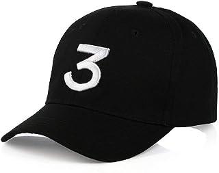 INZENYN Embroider Hats Number 3 Cool Baseball Caps, Adjustable Sunbonnet Cotton