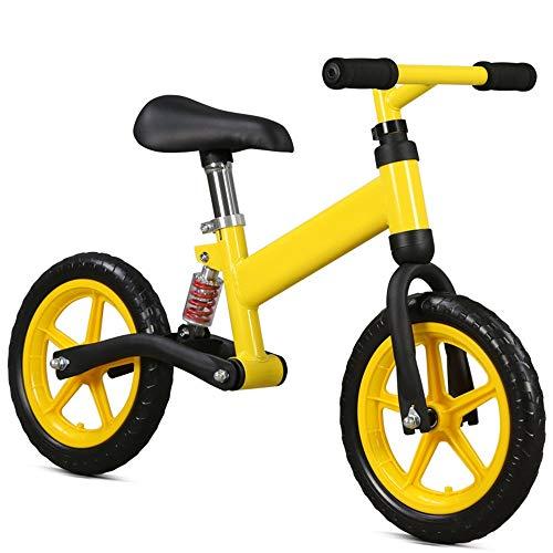 Kinderlaufräder Jungen und Mädchen Laufrad Anti-Rutsch-Lenker Luftreifen Verstellbarer Sitz Kein Pedal Push and Stride Kinder Kleinkinder Sporttraining Walking Fahrrad 12