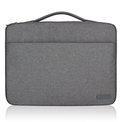 Arvok 15 15.6 16 Inch Water-resistant Canvas Fabric Laptop Sleeve With Handle & Zipper Pocket/Notebook Computer Case/Ultrabook Tablet Briefcase Carrying Bag For Acer/Asus/Dell/Lenovo/HP/Samsung/Sony (