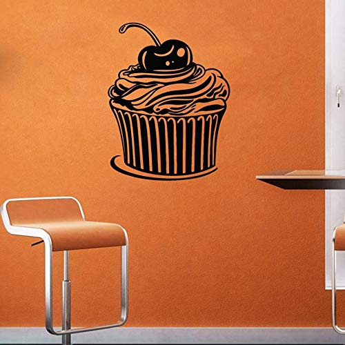 Cupcake tatuajes de pared dulces postres pastelería café hornear pastelería decoración de interiores vinilo etiqueta de la ventana pared creativa 57x73 cm