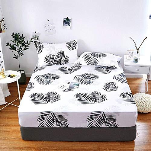 PENVEAT 1 stück 100% Polyester Druck Bett matratze Set mit Vier Ecken und Gummiband blätter heißer, yefeng, 80X200X25 cm