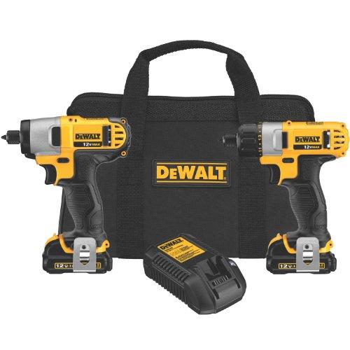 DEWALT 12V Cordless Screwdriver & Impact Driver Combo Kit (DCK210S2)