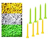 4000 Pcs Count Biodegradable Plastic Golf Tees 2 3/4 Inch, 70mm 2.75' Bulk Golf Tees, White, Yellow, Green Random Color Ship Out