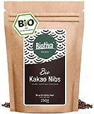 Semillas de cacao orgánico sin tostar 250 g - 100% calidad orgánica - fragmentos de cacao - semillas de cacao crudas - llenado y verificado en Alemania (DE-ÖKO-005)