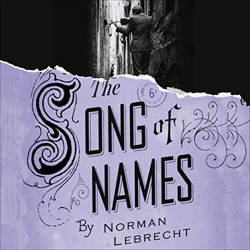 Song of Names audiobook cover art