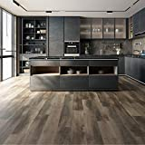 "Selkrik Vinyl Plank Flooring-Waterproof Click Lock Wood Grain-4.5mm SPC Rigid Core (48"" X 7.2"") Lake Shore SK70005 (24sqft)/Box"