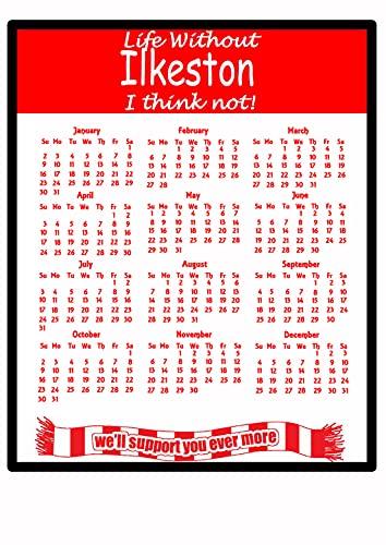 MagnetsandHangers Ilkeston - Calendario 2021 Alfombrilla de ratón - regalo útil para los aficionados al fútbol