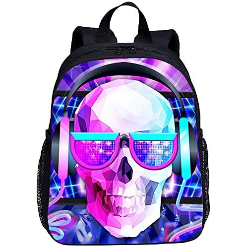 ASFDF Wasserdichter Mode Schulrucksack für Kinder Niedliche Büchertasche für Jungen und Mädchen Dämonenengel 13 Zoll Mini