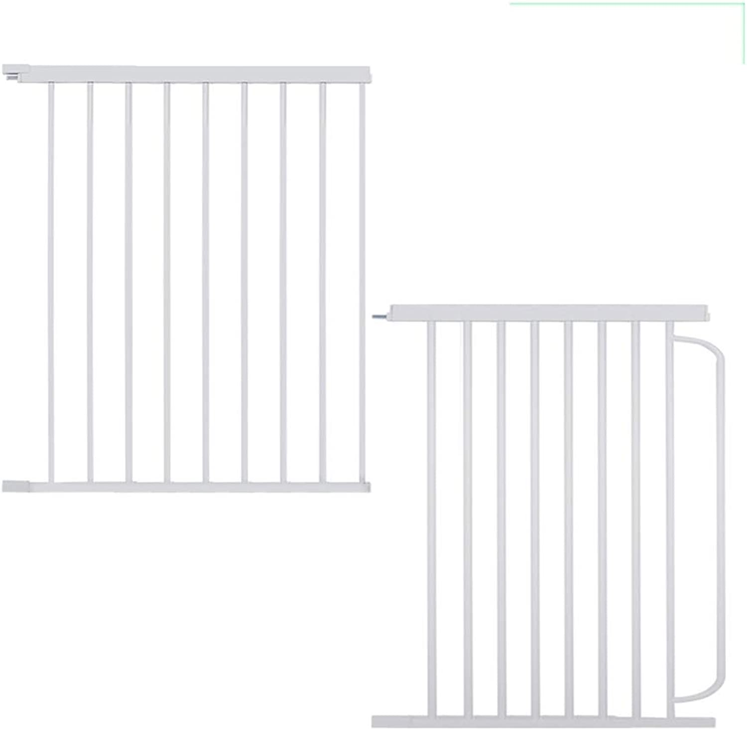 GHHZZQ Door Bar 45 Extensions Accessories Indoor Barrier Fence Small Pet Door Expansion Room Divider Portable Folding Fasteners (color   White, Size   45x76cm)