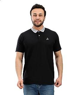 Andora Contrast Collar Short Sleeves Cotton Polo Shirt for Men