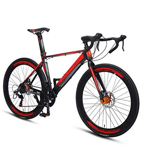 700C Räder Rennrad, Ultra-Light Aluminium-Rahmen-Straßen-Fahrrad, Männer Frauen Stadt-Pendler-Fahrrad, ideal for unterwegs oder Dirt Trail Touring, Grün, 16 Geschwindigkeit FDWFN