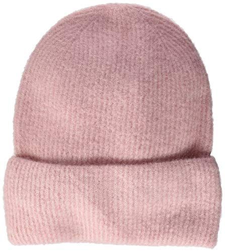 PIECES Damen PCJOSEFINE Wool Hood NOOS Strickmütze, Rosa (Peachskin Peachskin), One Size
