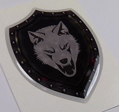 Chechnya Shield Style 3.2' Crest Chechen Lone Wolf Emblem Domed Decal Bike Car