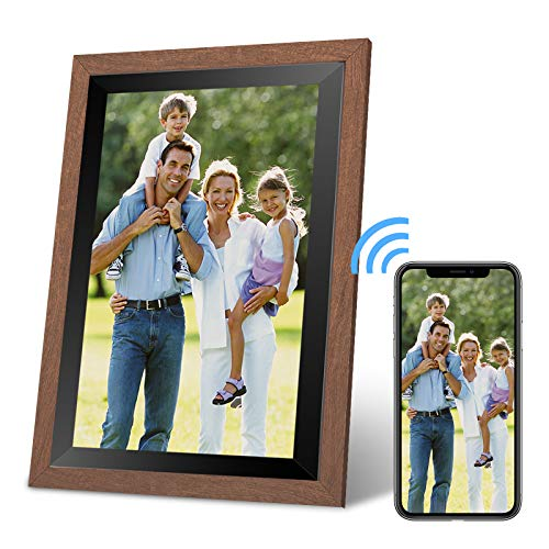 YSOU WiFi Digital Photo Frame 10.1 Inches, 1920x1080 Full Hd IPS Touch Screen, Automatic Screen Rotation, Easy Setup in One Minute-Great Gift for Loved Ones, Father's Day