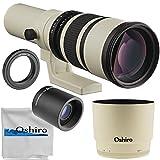 Oshiro 500mm f/6.3 (2X- 1000mm) 望遠レンズ Nikon F-Mount D6 D5 D4 D850 D810 D800 D780 D750 D610 D600 D500 D7500 D7200 D7100 D5600。 D5500、D5300、D5200、D3500、D3400、D3300。