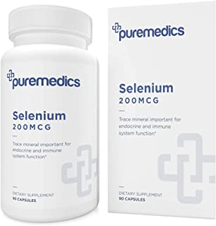 PUREMEDICS Selenium 200mcg - Selenium Supplement to Support Healthy Endocrine and Immune Function - Pharmaceutical-Grade -...