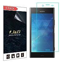 (8パック) Xperia XZ1 SO-01K液晶保護フィルム、【J&D】Sony Xperia XZ1 SO-01KのプレミアムHD液晶保護フィルム