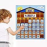 Venhoy Calendario de bolsillo para aula, organigrama (37 unidades)