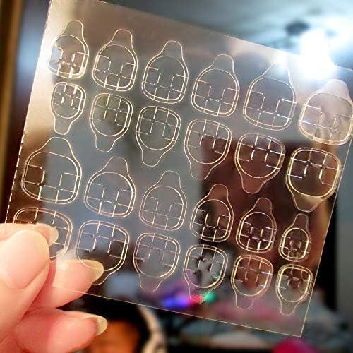 1 Sheet=12 Soldering 24 Jelly Double-Side Glue Regular dealer Ac Nail Sticker Transparent