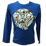 Global Brands Group T-Shirt Minecraft Originale Creeper Cento Facce Blu Navy Maglia Maglietta Videogioco Videogames Tutte Le Taglie