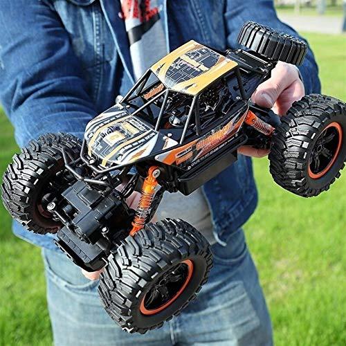 Coches de Control Remoto Hobbyist Grade 4x4 Bigfoot con batería Recargable,para niños,1:14 4WD Off-Road High Speed Drifting Double Motors Buggy Desert Chariot para niños
