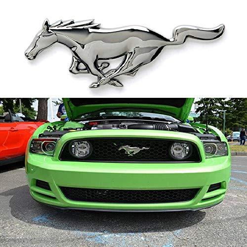 L&U Car Styling Metall 3D Mustangpferd Fronthaube Grille Emblem Aufkleber Running Horse Aufkleber für Ford Mustang Shelby GT