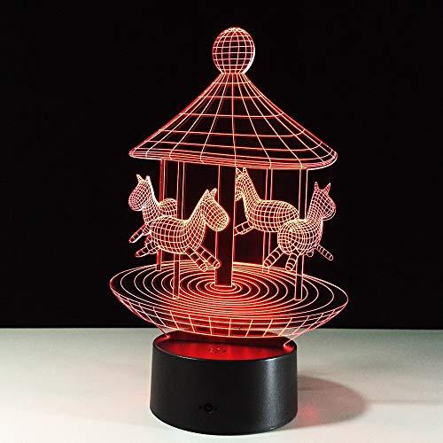Interruptor táctil Lámpara 3D Usb Led Lámpara de noche Lámpara de pared Lámparas 3D