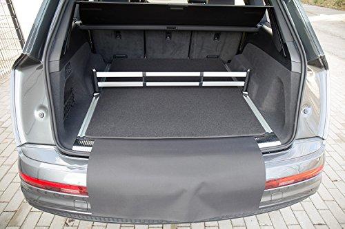 tuning-art 2923 Kofferraummatte für Audi Q7 2 4M 2015-3-teilig mit Ladekantenschutz