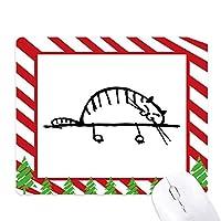 スマイル縞猫線 ゴムクリスマスキャンディマウスパッド