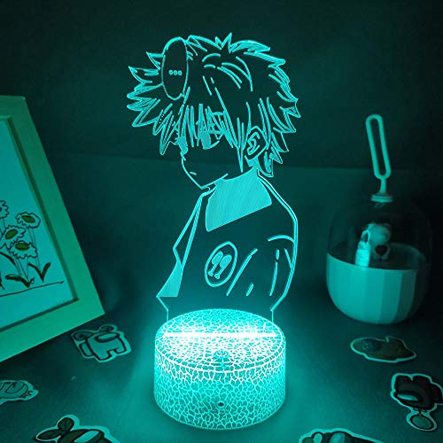 3D Lava Lamp Anime Hunter X Hunter Night Lights LED Cool Fun Gifts-Base de la lámpara de lava_7 colores