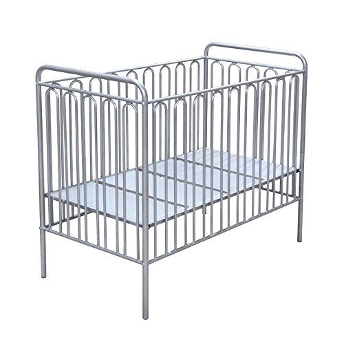 Polini Gitterbett Babybett aus Metall 'Silber' Metall