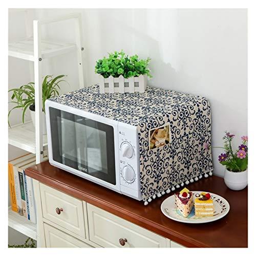 JINAN Housse de protection pour four à micro-ondes avec poche en coton épais et lin (couleur : 9, taille : 30 x 90 cm)