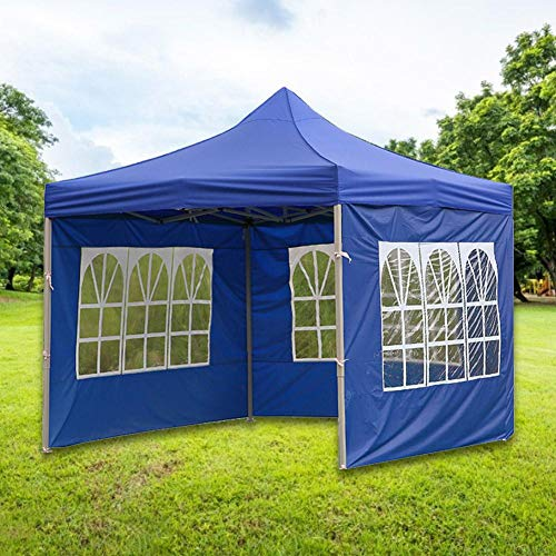 Garden Gazebo Marquee Tent with Side Panels, Fully Waterproof, Powder Coated Steel Frame for Outdoor Wedding Garden Party (3x3m /3x6m 3x9mRed/Blue)