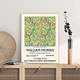 Póster de exposición vintage de William Morris, impresión de calidad de galería, arte de pared vintage, lienzo decorativo sin marco, pintura Q-99 50x70cm