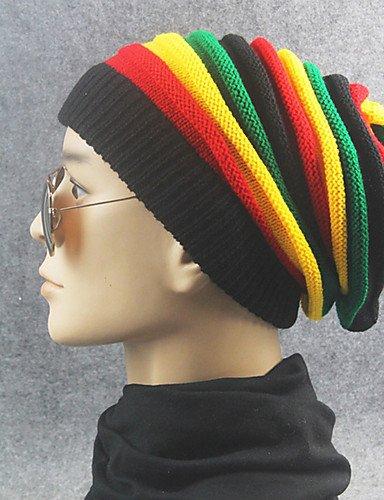 ZYT Adulte Chapeau Coton Capeline,Solide Printemps/Automne Hiver Couleur Unie, Rainbow, One-Size