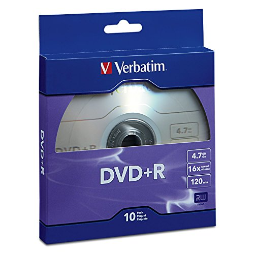 Verbatim DVD+R 4.7GB 16x Recordable Media Disc - 10 Disc Box, Purple - 97956