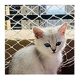 Ezoon - Red de seguridad premium para gatos, mascotas, niños, malla de nailon resistente, valla de balcón, extra grande, resistente a las mordidas, con bridas de fijación