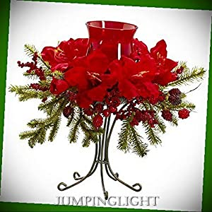 JumpingLight 4927 Amaryllis Candelabrum Artificial Flowers Wedding Party Centerpieces Arrangements Bouquets Supplies