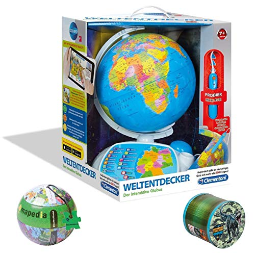 SPAR-SET 176599 - Galileo - Weltendecker Globus + Mapedia Puzzle in Metallkugel, 100 Teile, Deutschland