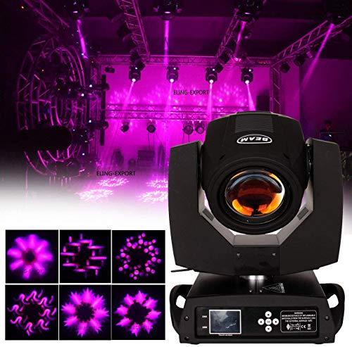 Yonntech Moving Head Led 230W Pro Beam 7R Beam DMX512 Bühnenlicht Bühnenstrahler 8 Kanäle/ 16 Kanäle Beam Musik Beleuchtungsprofi (8 Prisma)