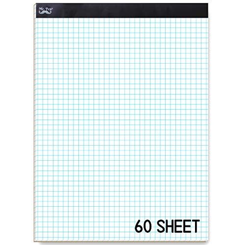 Mr. Pen Graph Paper, 5x5 (5 Squares per inch), 11'x8.5' Engineering Graph Paper Pad, 55 Sheet