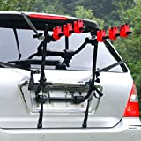 AYNEFY Car Hatchback Rack, 3 Bikes Hitch Mount Baggage Carrier Bike Carrier Rear Hitch Mount Bicycle Rack, 89 x 39 x 87cm