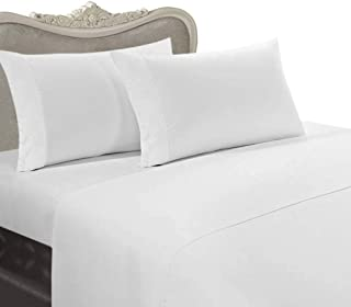 21 inches Extra DEEP Pocket - 1200 Thread Count Egyptian Cotton Sheet Set, 1200TC, California King, Solid White