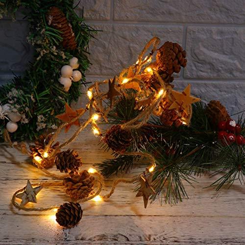 Wimaha Weihnachtsbeleuchtung Weihnachtsdeko Lichter LED Lichterkette für Weihnachtsbaum und Home Hochzeit Dekoration