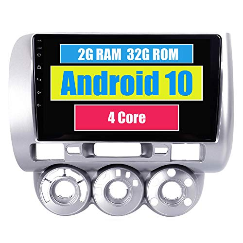 RoverOne Radio del Coche para Honda Fit Jazz 2004 2005 2006 2007 con Android Reproductor Multimedia Navegacion GPS Pantalla Táctil Bluetooth Estéreo WiFi USB Mirror Link