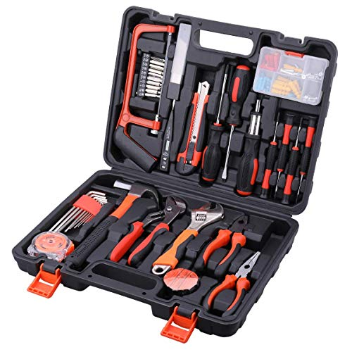 ホームツールセット 工具セット 家庭用 AWANFI 工具箱 道具セット 日常ツールキット 家庭修理 DIY用 家具組み立て 住まいのメンテナンス用 100セット